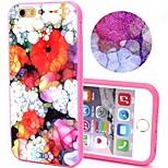 2-in-1 Bling Bling Dream Flowers Pattern PC Back Cover with PC Bumper Shockproof Hard Case for Apple iPhone 6 Plus