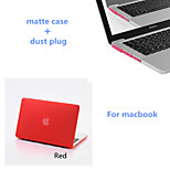 Solid Colors Matte Full Body Hard Case with Dust Plug for Macbook Pro 13.3