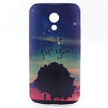 Under the Stars Pattern TPU Material Phone Case for Motorola G2