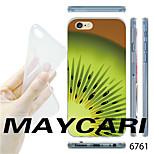 Kiwi Fruit Slice Pattern Transparent TPU Soft Back Case for iPhone 6