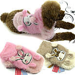 PETSOO Pet Clothes Cute Double Color Carding wool Rabbit Dog Costume