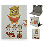 Reading the Owl Pattern High Quality PU Leather with Stand Case for 10 Inch Universal Tablet