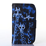 Crazy Deers Pattern PU Leather Full Body Case with Stand for Alcatel One Touch POP C3