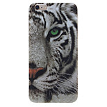 White Tiger Pattern TPU Soft Case for iPhone 6 Plus
