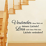 Wall Stickers Wall Decals Style German Words & Quotes PVC Wall Stickers