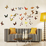 Wall Stickers Wall Decals Style Cartoon Colored Butterflies PVC Wall Stickers