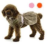 petsoo Haustier Kleidung Mode Supersoft Plüsch-Winter-Hundekleid