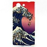Wave Pattern TPU Material Soft Phone Case for Sony Z3 Mini