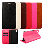Crazy Horse Oil Side Grain Leather Protective Sleeve Around The Open for Sony Xperia M4 Aqua(Assorted Colors)