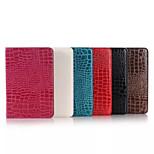 8 tuuman croco pattern PU lompakko nahkainen teline Samsung Galaxy Tab 8,0 sm-t350 / t351 (eri värejä)