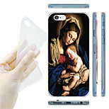 Madonna and Child Pattern TPU Soft Back Case for iPhone 6/6S