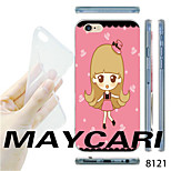MAYCARI®Cartoon Girl Pattern TPU Soft Transparent Back Case for iPhone 6