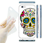 Cross Skulls Pattern TPU Soft Back Case for iPhone 6