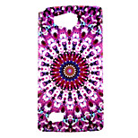 Purple Printing Pattern TPU Material Phone Case for LG H220 / H422 / H502