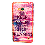 Never stop dreaming Pattern TPU Soft Case for Nokia Microsoft Lumia 640