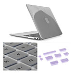 3 in 1 Crystal Clear Case with Keyboard Cover and Silicone Dust Plug for Macbook Retina 15.4