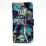 Coconut Trees Pattern PU Leather Phone Holster For iPhone 5/5S