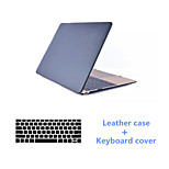 Solid Colors Luxury PU Leather Full Body Case with Keyboard Flim for Macbook Retina 13.3