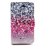 Star Point Pattern PU Leather Material Card Full Body Case for iPhone 4/4S
