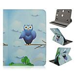 owl ms Muster 360-Grad-Drehung Qualität PU-Leder mit Standplatzfall für 10-Zoll-Universal-Tablette