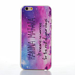 Purple Pattern of Transparent Frosted PC Material Phone Case for iPhone 6