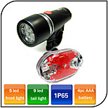 XIE SHENG YG-94 100 Lumens Front Lights + Tail Light Kits 4pc AAA Waterproof/Impact Resistant/Easy to Carry Cycling
