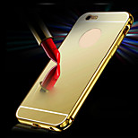 New Luxury Plated Aluminum Metal Frame+Mirror Acrylic Back Cover Shell Case for IPhone6 4.7inch
