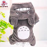 FUN OF PETS® Grey Totoro Shape Warm Hoody Suite for Pet Dogs(Assorted Sizes)
