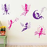 adesivos de parede do estilo decalques de parede de parede animados espírito pvc adesivos