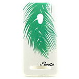 Feather  pattern TPU + IMD Soft Back Cover Case  For ASUS ZenFone 5