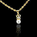 18K Real Golden Plated Pearl Pendant