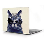 Cool Cat with Big Glasses Design Full-Body Protective Plastic Case for 12