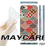 MAYCARI®Bamboo Pattern TPU Soft Transparent Back Case for iPhone 6