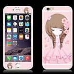 Peach Blossom Girl Glitter HD Scratch-Proof Before Glass Protection Film for iPhone 6