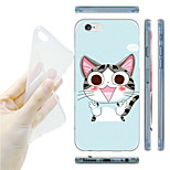 Cartoon Cat Pattern TPU Soft Back Case for iPhone 6