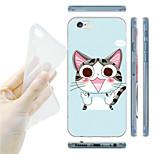 Cartoon Cat Pattern TPU Soft Back Case for iPhone 6/6S