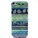 Retro Totems Pattern TPU Soft Back Case for iPhone 5/5S