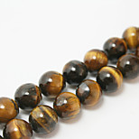 Beadia 39Cm/Str (Approx 39Pcs) 10mm Round Natural Tiger Eye Stone Beads DIY Accessories