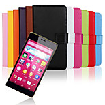 Solid color Stylish Genuine  Leather Flip Cover Wallet Card Slot Case with Stand for Sony Z4