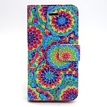 Colourful Printing Pattern PU Leather Phone Holster For iPhone 5/5S