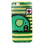 Cartoon Elephant  Pattern Glitter TPU Cell Phone Soft Shell  For iPhone 6