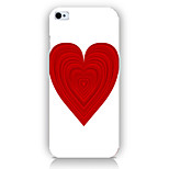 Bright Red Love Pattern Phone Back Case Cover for iPhone5C