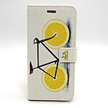 Bicycle Pattern PU Leather Material Card Full Body Case for iPhone 6