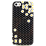 Fashion Design COCO FUN® Polka Dot Daisy Pattern Soft TPU IMD Back Case Cover for iPhone 5/5S