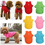FUN OF PETS® Pet Dog Collar Puppy Polo T-Shirt Clothes Outfit Apparel Coat Cotton(Assorted Colors and Sizes)