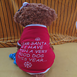 Holdhoney Red And White Letter Heart Flannelette T-Shirt For Pets Dogs (Assorted Sizes) #LT15050158