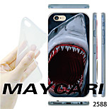 MAYCARI® Shark Big Mouth Pattern Transparent TPU Soft Back Case for iPhone 6