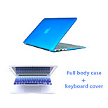 Crystal Clear Full Body Case and Keyboard Cover Flim for Macbook Air 11.6