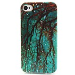 Blue Woods Pattern TPU Material Phone Case for iPhone 4/4S