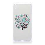 White Trees Pattern TPU Soft Back Cover Case for Sony Z4